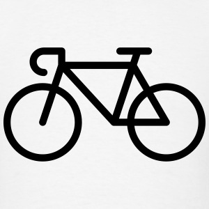 Racing Bicycle / Bike (Icon / Pictogram) Sportswear - Men's T-Shirt