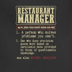 Restaurant Manager Badass Dictionary Term T-Shirt T-Shirts - Adjustable Apron
