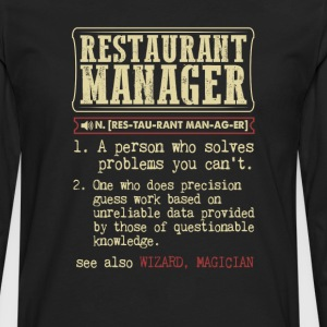 Restaurant Manager Badass Dictionary Term T-Shirt T-Shirts - Men's Premium Long Sleeve T-Shirt