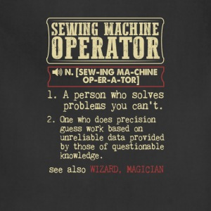 Sewing Machine Operator Badass Dictionary Term T-S T-Shirts - Adjustable Apron