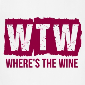 WTW WHERE'S THE WINE T-Shirts - Adjustable Apron