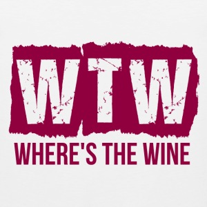 WTW WHERE'S THE WINE T-Shirts - Men's Premium Tank
