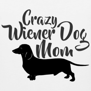 Crazy Wiener Dog Mom T-Shirts - Men's Premium Tank