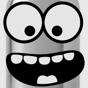 Funny Smiley Monster (Om Nom Nom) Face Baby & Toddler Shirts - Water Bottle