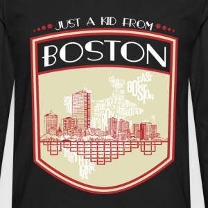 Kid from Boston - It's where my story begins - Men's Premium Long Sleeve T-Shirt