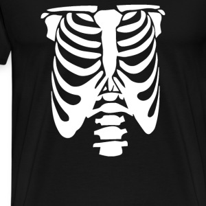 Rib Cage Body Skeleton Halloween Cool Awesome - Men's Premium T-Shirt