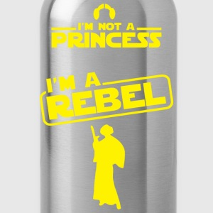 Star Wars fan - I'm not a princess, I'm a rebel - Water Bottle
