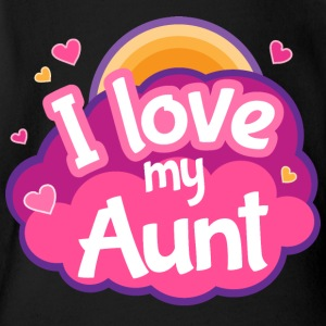 I Love My Aunt Gift Cute Kids' Shirts - Short Sleeve Baby Bodysuit