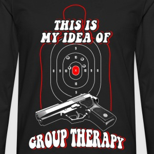 Shooter - This is my idea of Group therapy - Men's Premium Long Sleeve T-Shirt