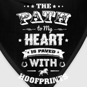 Hoof prints - The path to my heart is paved - Bandana