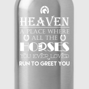 Horse - Horse lovers heaven awesome t-shirt - Water Bottle