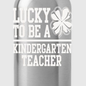 Kindergarten teacher - I'm lucky to be one t - shi - Water Bottle