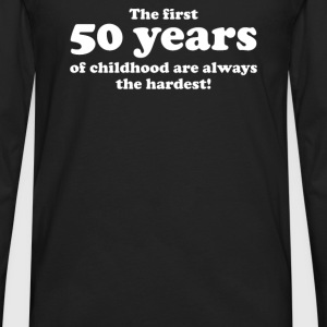 50 YEARS OF CHILDHOOD - Men's Premium Long Sleeve T-Shirt