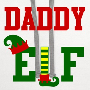 daddy elf56265.png Kids' Shirts - Contrast Hoodie