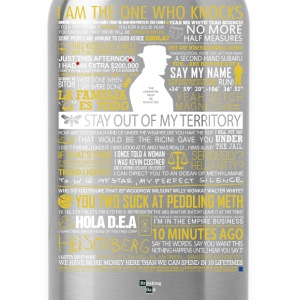 Breaking Bad Typographic - I am the one who knock - Water Bottle