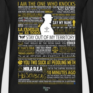 Breaking Bad Typographic - I am the one who knock - Men's Premium Long Sleeve T-Shirt