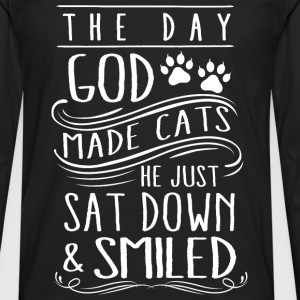 Cats - The day god made cats he just smiled tee - Men's Premium Long Sleeve T-Shirt