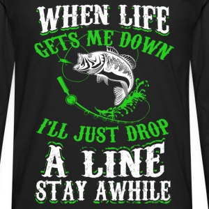 Fisher - When life gets me down I go fishing tee - Men's Premium Long Sleeve T-Shirt