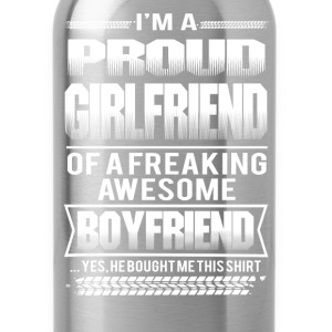 Girl friend - I'm a girl friend of an awesome boy - Water Bottle
