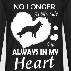 Dog - No longer at my side but Always in my heart - Men's Premium Long Sleeve T-Shirt