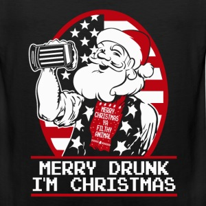 Gift for Drunk - Merry Drunk, I'm Christmas - Men's Premium Tank