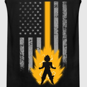 Saiyan lover with American flag T - shirt - Men's Premium Tank