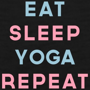 Eat Sleep Yoga Repeat Quote Sportswear - Men's Premium Tank