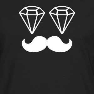 Dope Chef Diamond Moustache Hipster Swag Illest - Men's Premium Long Sleeve T-Shirt