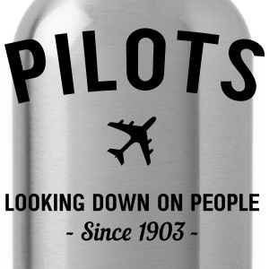 Pilots. Looking down on people since 1903 T-Shirts - Water Bottle