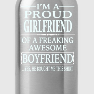 I'm A Proud Girlfriend Of A Freaking Awesome - Water Bottle