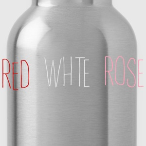 Red White Rose T-Shirts - Water Bottle