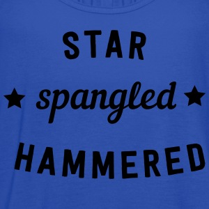 Star Spangled Hammered T-Shirts - Women's Flowy Tank Top by Bella