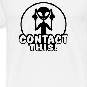 Alien Contact This finger UFO - Men's Premium T-Shirt