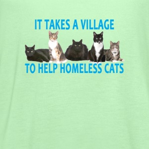 it_takes_a_village_to_help_homeless_cats - Women's Flowy Tank Top by Bella