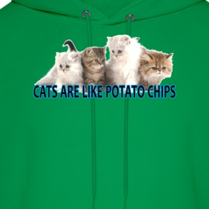 cats_are_like_potato_chips_ - Men's Hoodie