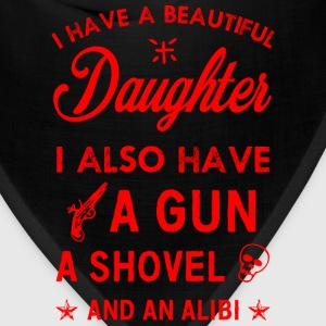 Beautiful Daughter red Hoodies - Bandana