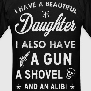 Beautiful Daughter grey Hoodies - Men's T-Shirt