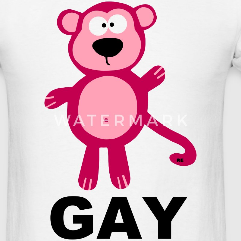 Gay Monkey Shirt Pink Gift Statement Boys Men - Men's T-Shirt