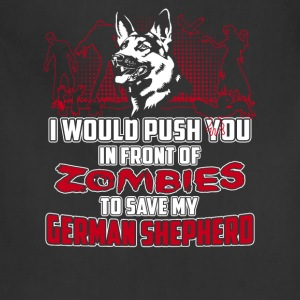 German Shepherd dog - Push you in front of Zombies - Adjustable Apron