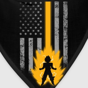 Saiyan lover with American flag T - shirt - Bandana
