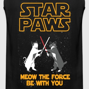 Star Wars cat version - Meow the force be with you - Men's Premium Tank