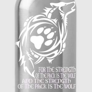 Wolf - The strength of the pack is the wolf - Water Bottle