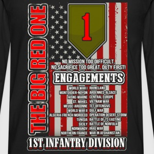 1st Infantry division - The big red one - Men's Premium Long Sleeve T-Shirt