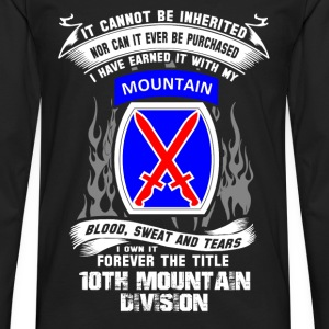 10th mountain division - I've earned it with blood - Men's Premium Long Sleeve T-Shirt