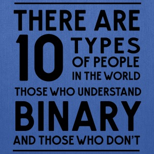 10 Types of people in the world. Binary T-Shirts - Tote Bag
