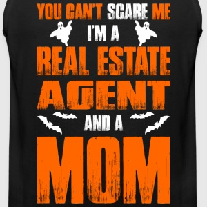 Cant Scare Real Estate Agent And A Mom T-shirt T-Shirts - Men's Premium Tank