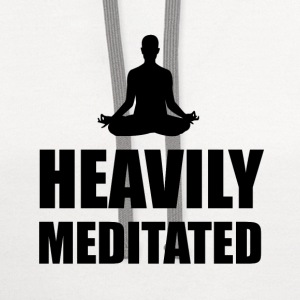 Heavily Meditated - Contrast Hoodie