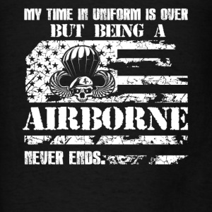 Being Airborne Never Ends - Men's T-Shirt
