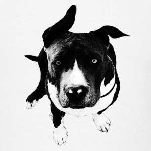 Amstaff Dog Bandana - Men's T-Shirt