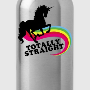 totally straight - Water Bottle